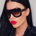 2017 Unique Brand Design Women Sunglasses Square Sun Glasses Vintage Oversized Big Frame Sun Glasses Acetate Shades Eyeglasses