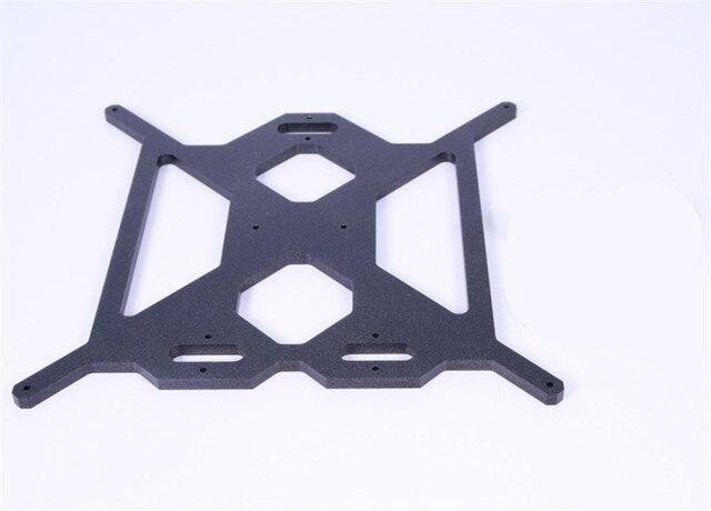 Funssor aluminium Prusa i3 MK2 Y support de plaque de chariot couleur noire