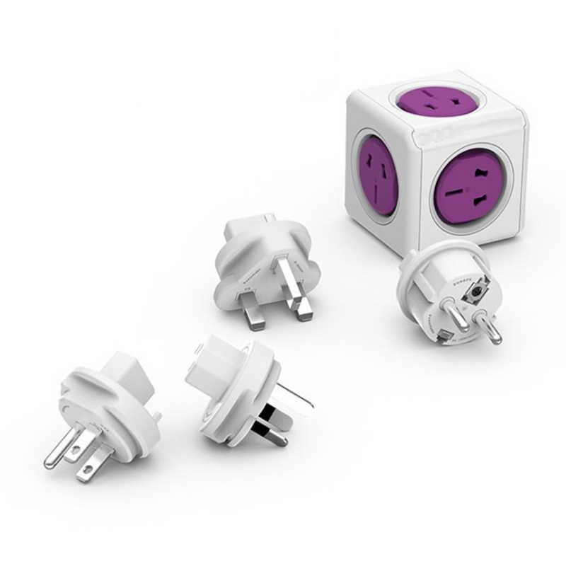 Inteligentny dom PowerCube gniazdo, ue/US/UK/AU wtyczki podróżne 4 gniazda 2 porty USB zasilania taśmy rozszerzenie wiele gniazd