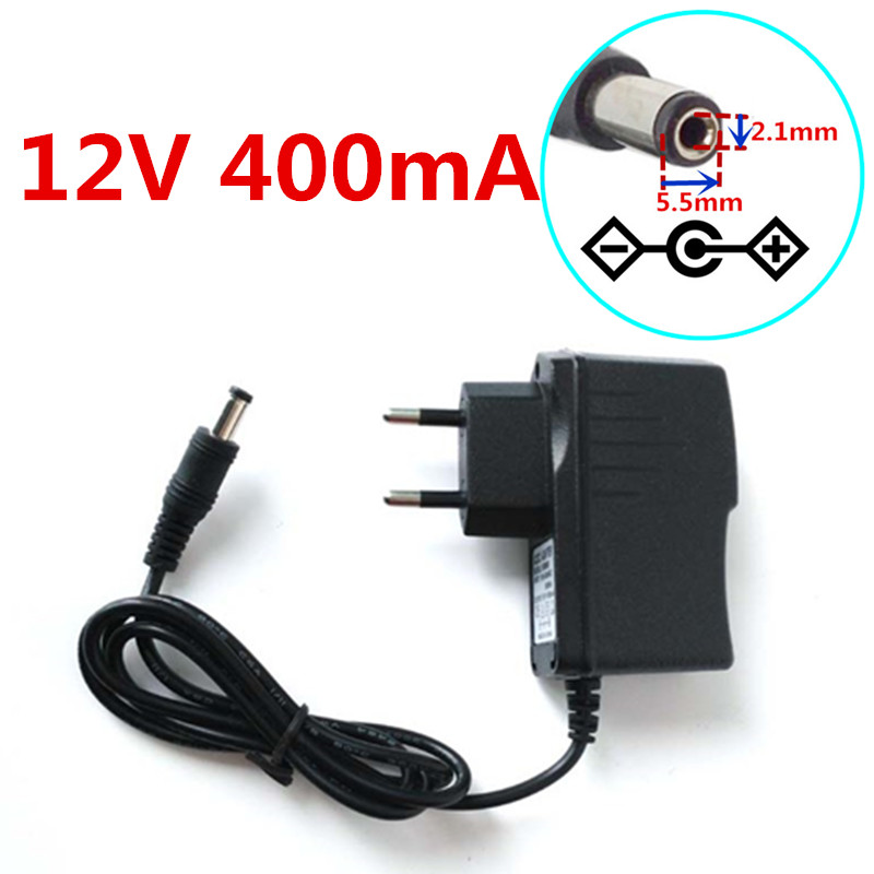 AC Adapter DC 12V 400mA Switching power supply 0.4A US plug DC 5.5mm x 2.1mm
