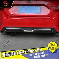 Car Styling ABS Rear Bumper Spoiler For Honda Civic 2016 Back Bumper Guard Cover Spoiler Trim
