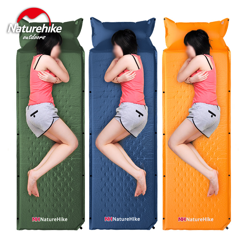 Matelas de couchage auto-gonflable naturetrek matelas de couchage auto-gonflant lit pliable tente de Camping tapis unique avec oreiller - 5