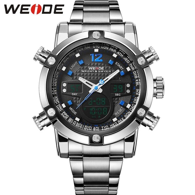 WEIDE Top Fashion Brand Men Sport Watch font b Dual b font font b Display b