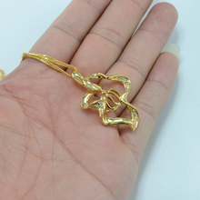 Allah pendant necklaces for Women Islam Jewelry arab mohammed gold color Muslim Middle Eastern eid al-fater #000419