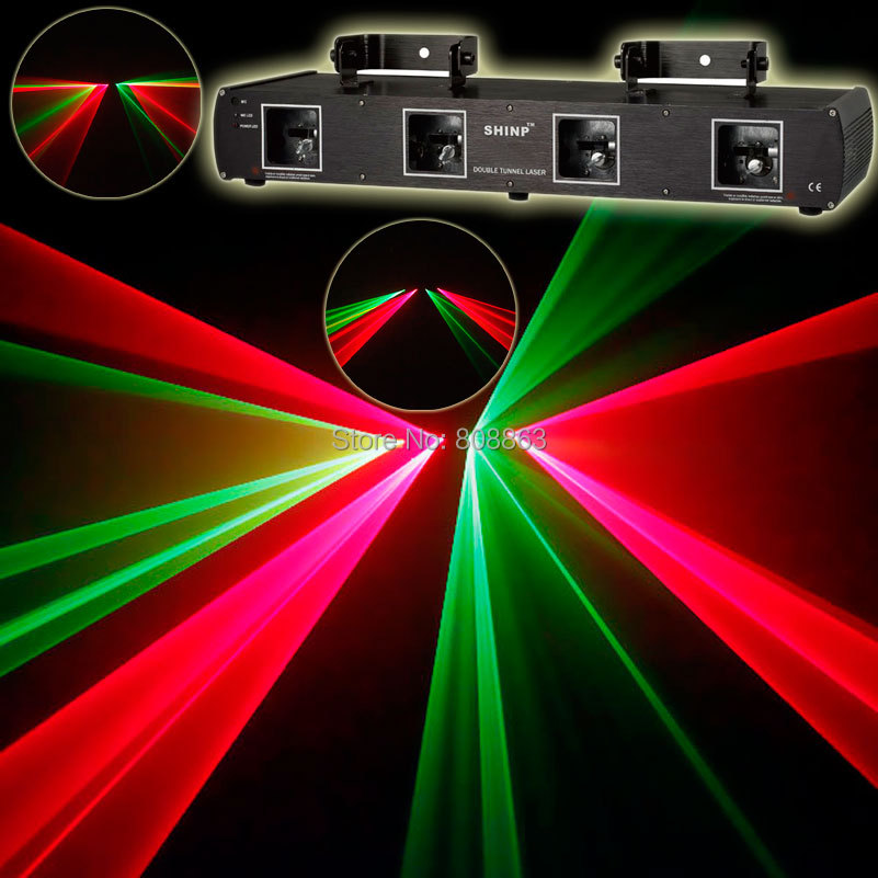 HoT 4Lens DMX Red Green Line scanner Professional Laser system Stage DMX512 DJ Party Disco bar Club ktv light x5