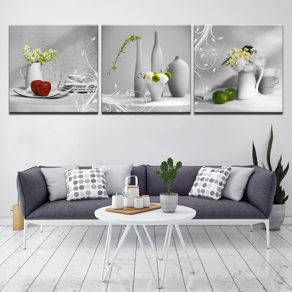 Modern Kitchen Art Picture Painting Combination Food Oil Paintings
