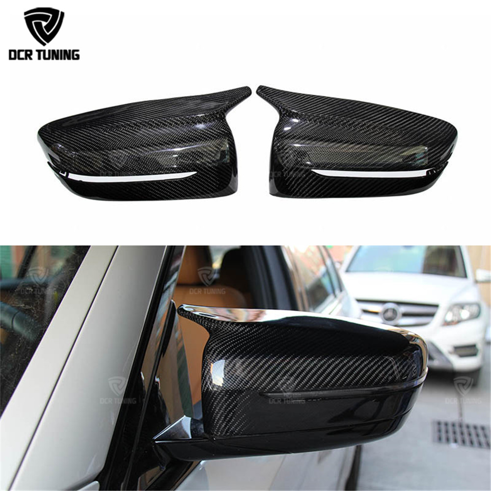 M Look Carbon Fiber Rear View Mirror Cover For BMW 5 Series G30 G38 M Performance 2017 - UP 6 Series GT G32 2018+ Only LHD yandex w205 amg style carbon fiber rear spoiler for benz w205 c200 c250 c300 c350 4door 2015 2016 2017