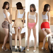 Women Sexy Micro Red Black Skirts See Through Transparent Cute Short Mini Skirt Night Club Tight Package Hip Skirt 77(China)