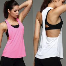 Летние сексуальные женские рубашки для йоги, майка для спортзала, занятий спортом, бега, занятий спортом, растягивается, жилет для тренировок, быстросохнущая одежда