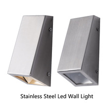 Modern Stainless Steel Led Wall indoor Light down light Decorative lighting Porch lamps with GU10 bulb patio wall lights