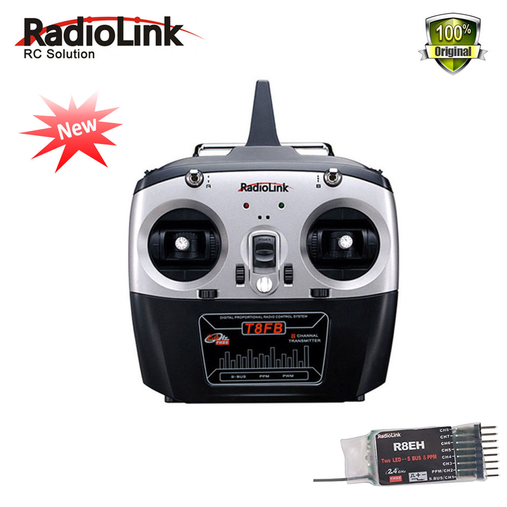Newest RadioLink 2.4GHz 8ch RC Transmitter R8EH Receiver Combo Remote Rontrol lefthand throttle for Helicopter DIY RC Quadcopter radiolink t8fb 2 4ghz 8ch rc transmitter with r8eh receiver combo remote rontrol for rc helicopter diy rc quadcopter plane