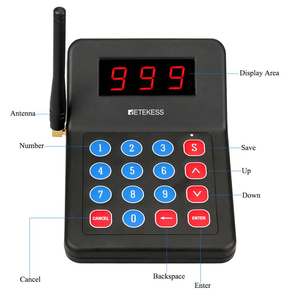 Image 3 - RETEKESS 999 Channel Restaurant Pager Wireless Paging Queuing Calling System Buzzer For Cafe Shop Church Restaurant Equipment-in Pagers from Computer & Office