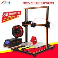 Anet E10 E12 3D Printer DIY Large Printing Size High Precision Reprap Prusa i3 imprimante 3D Printer Kit with PLA Filament Print