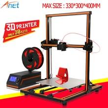 Анет E10 E12 3D-принтеры DIY широкоформатной печати Размеры Высокая точность Reprap Prusa i3 imprimante 3D-принтеры комплект с PLA нити принт