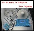 O envio gratuito de um conjunto display LCD WCDMA 2100 Mhz booster, 3G repetidor amplificador de sinal 3G impulsionador repetidor kits