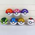 Large 10cm 7 Colors 1pcs Pokeball+1 pcs figure Poke Ash Ball Pikachu Action Figures ABS AnimeLove Master Great Timer Ball Toys