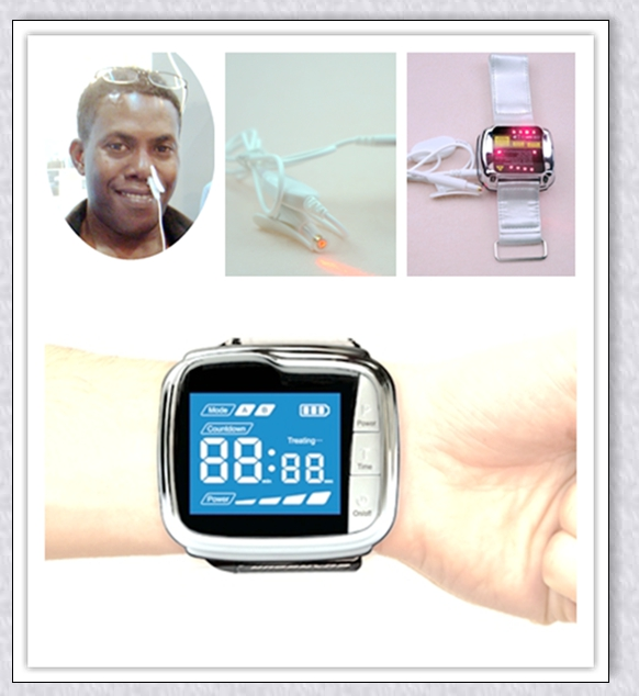 Health care bio laser therapy wrist watch 650nm for Decreases blood viscosity  2017 New invented original manufacture laser therapy female vaginal health care innovative product for homes