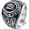 Size 7-15 Vintage 316L Stainless Steel United States Eagle Military Army Veteran Ring Cocktail Memorial Navy Airforce Marine