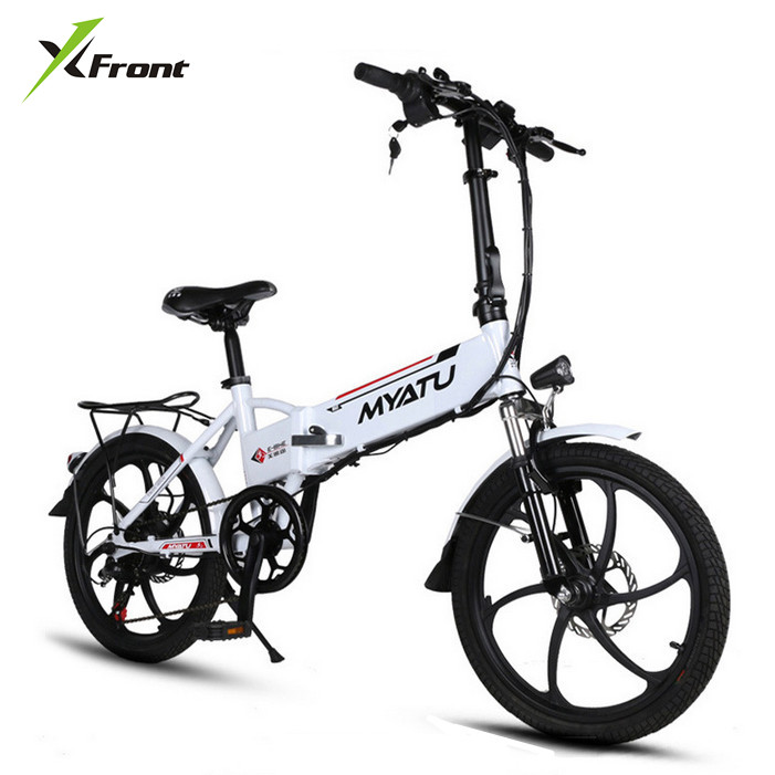 New X front brand Aluminum frame 20 inch electric font b bike b font 6 speed