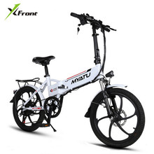 New X-front brand Aluminum frame 20 inch electric bike 6 speed folding mini ebike 48V 250W lithium battery electric bicycle