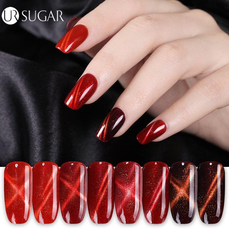 Ur Sugar 3d Flame Fire Red Cat Eye Gel Nail Polish Soak