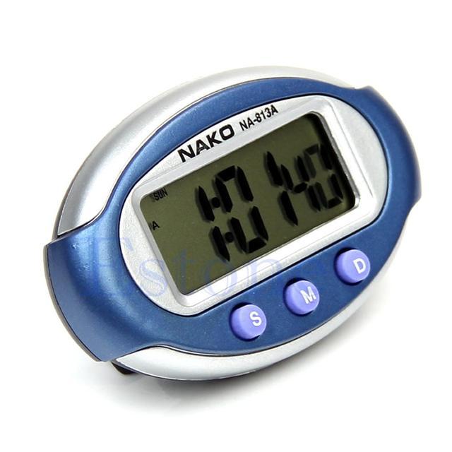 Smart MiNi Digital Clock Portable Car Auto Dashboard LCD Display 3 Buttons New