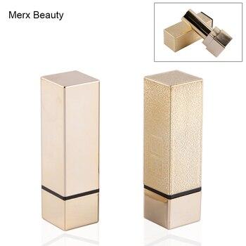 50PCS 4G Empty Luxury Gold Lipstick Tube, Square Plastic Lip Balm Tube/Case, DIY Lipstick Cosmetic Container, Merx Beauty Brand