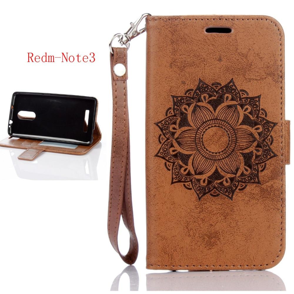 Brown color pu flower phone case for Xiaomi Redmi Note 3 5.5/ Xiaomi Redmi Note 3 Pro black flip wallet cover for Redmi Note3