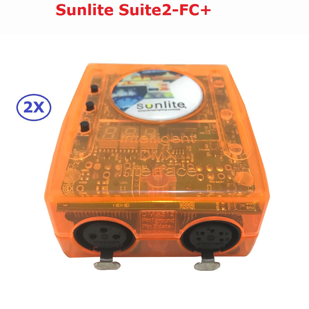 Classic Virtual Dj DMX Controller Sunlite Suite2-FC+ USB Universal Serial Bus With Intelligent PC Software For Laptop Computer designing intelligent front ends for business software