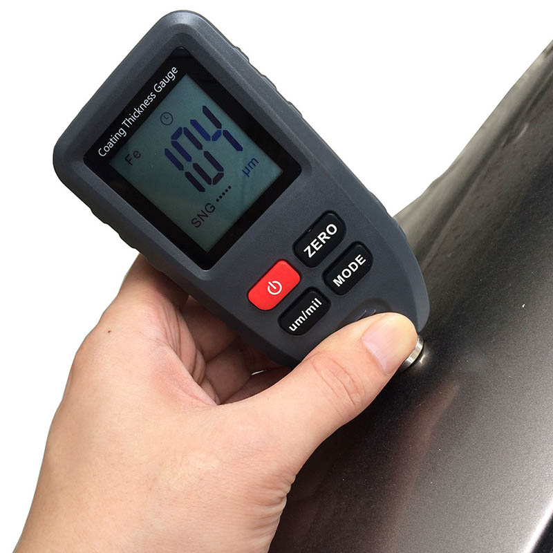 Handheld Coating Thickness Gauge Paint Film Metal Surface Thickness Tester Measuring Tool ALI88Handheld Coating Thickness Gauge Paint Film Metal Surface Thickness Tester Measuring Tool ALI88