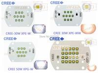 Creeのxlamp xp-e xpe 30ワットxp-g xpg 50ワット100ワットledホワイト/暖かい白ハイパワーled成長ライトランプ付きクーパーpcb
