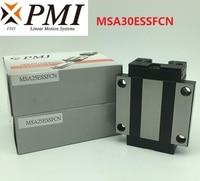 8pcs/lot Original Taiwan PMI MSA30E N MSA30ESSFCN linear guideway sliding block Carriage for CO2 laser machine MSA30E