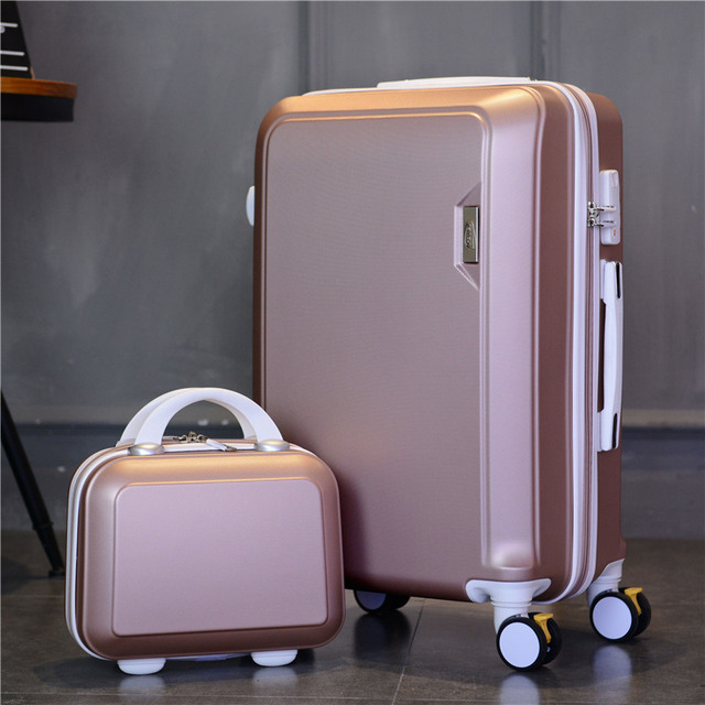 edecd5f14567 US $82.6 30% OFF|20''22''24''26 inch women Suitcase vs cosmetic bag,Travel  suitcase Set,Spinner Rolling Luggage Hardside abs koffer set-in Rolling ...