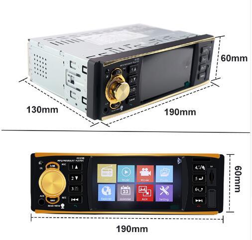 1 Din voiture lecteur MP3 FM Radio modulateur musique Audio stéréo USB automagnitol Bluetooth voiture kit caméra de recul télécommande