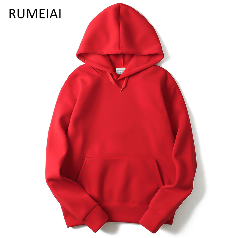 20aa9f9b4cc79 RUMEIAI 2019 New brand Hoodie Streetwear Hip Hop red Black gray pink Hooded  Hoody Mens Hoodies and Sweatshirts Size M XXL-in Hoodies   Sweatshirts from  ...