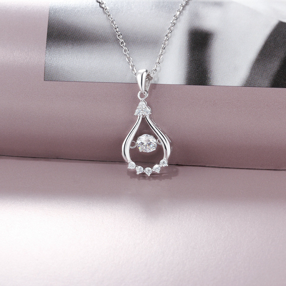 YSP12 women fine jewelry,delicate water drop shape pendant,925 sterling silver necklace to beloved girl dip10 women fine jewelry 925 sterling silver flower pendant delicate necklace for beloved women