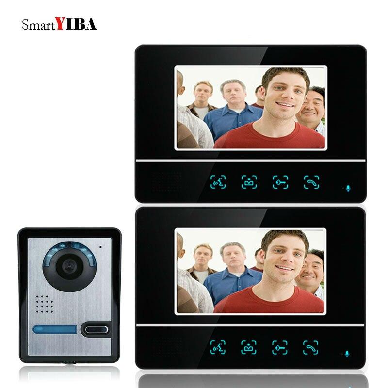 Gut Smartyiba 7 Zoll Touch Farbe Intercom System Video Tür Telefon Audio Video Freisprecheinrichtung Intercom Tür Glocke Kamera Sicherheit Kits Weitere Rabatte üBerraschungen