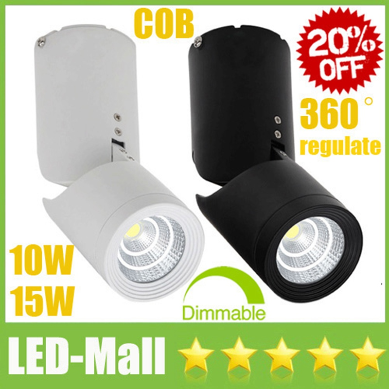 20% OFF Surface Mounted COB 10W 15W LED Downlights CRI>88 110-240V Tiltable Fixture Ceiling Display Shop Down Light Lamps SAA UL