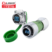 IP67 Waterproof Fiber Optics Electric Connectors 2 pin Small Electrical Pin Connector Socket Plug with 3m Cable