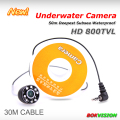 HD 1000TVL underwater camera for fishing under water detecting cctv 8pcs IR LED security camera with 30m super strong cable