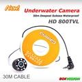 HD cctv 1000TVL cámara subacuática de la pesca bajo de detección de agua 8 unids IR LED cámara de seguridad con 30 m súper fuerte cable