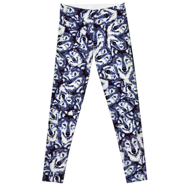Leggings 2016 Fashion Plus Size Sexy Extra-terrestrial Digital Printing Fitness LEGGINGS Size S-4XL Drop Shipping new wolf