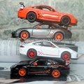 Brand New KINGSMART 1/36 Scale Car Toys Germany 2010 P-0rsche 911 GT3 RS Diecast Metal Pull Back Car Model Toy For Gift/Kids