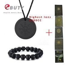 Самый дешевый! EBUTY натуральные мужские браслеты черный натуральный камень женские ювелирные изделия бусины Турмалин талисманы кулон 6000CC