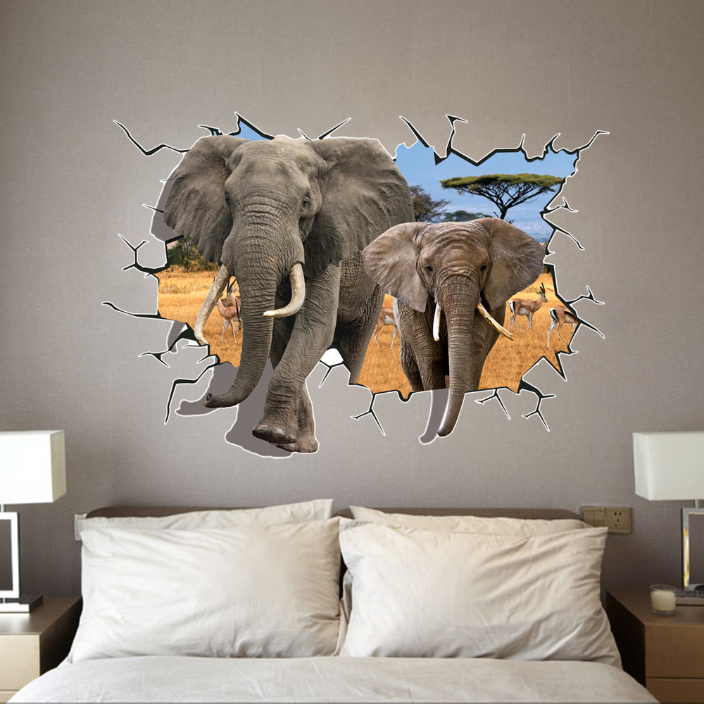 Creative 3d elephant wall stickers children room kindergarten creative 3d elephant wall stickers children room kindergarten decorative environmental wallpaper decals home decor supplies in wall stickers from home amipublicfo Choice Image