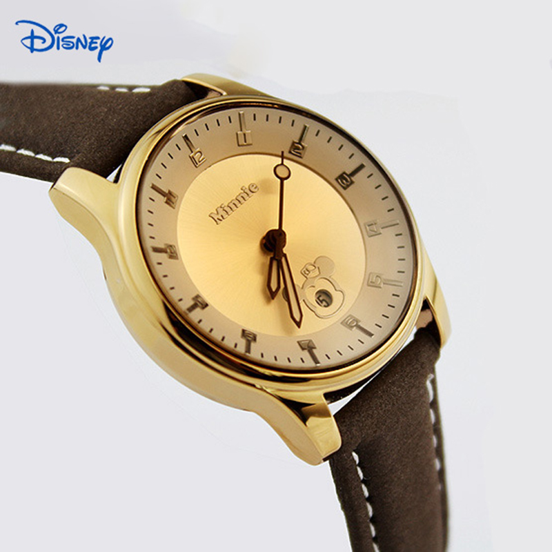 DISNEY Women and Men Fashion designer watch MICKEY date Watches Water Resistant Quartz watch Blue Wristwatch
