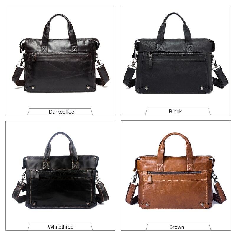 WESTAL Messenger Bag hommes en cuir véritable hommes sacs à bandoulière en naturel homme porte-documents ordinateur portable sac à bandoulière pour hommes 9103 - 6