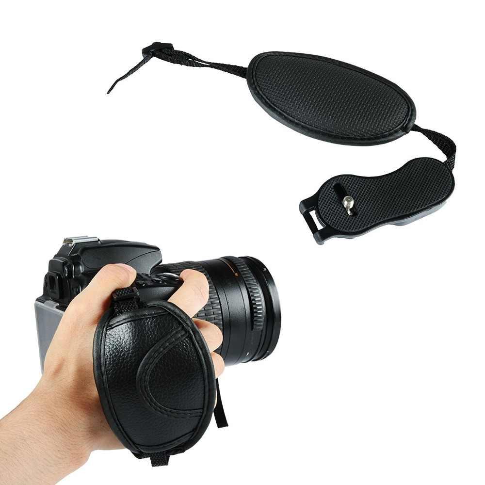 SLR Kamera Tali Pergelangan Tangan Sabuk Tangan Band Pergelangan Tangan dengan 1/4 Rilis Cepat Piring untuk Canon Nikon Sony Nikon Kulit coklat Pilihan E6