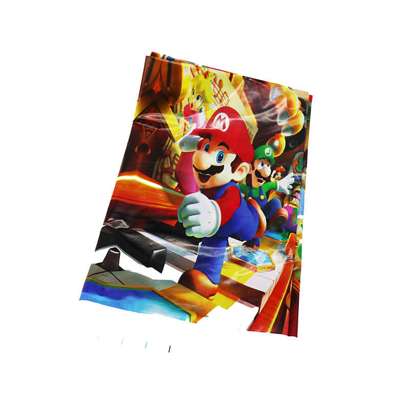 225 & 1pcs/pack Super Mario theme disposable tablecloths Mario design theme plastic table cover Mario Bros theme tablecloths