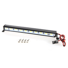 Metal Roof Lamp LED Light Bar for 1/10 RC Crawler Traxxas Trx-4 SCX10 90027 SCX10 II 90046 RC4WD D90 Car(China)